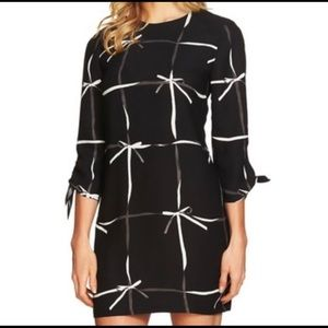 CeCe Ribbon Dress with Tie Sleeves